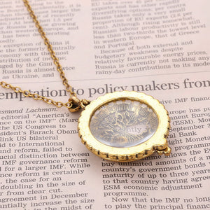 "VIVA Lux ""Tree Pendant Magnifying Glass"" Necklace"