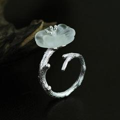 Little Lotus Ring [925 Sterling Silver] (Handmade)