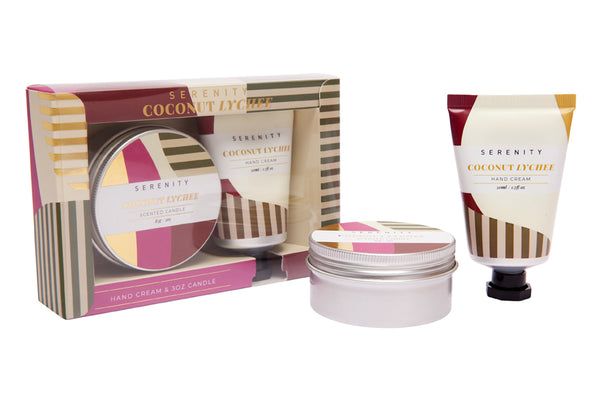 Travel Tin & Hand Cream Gift Set - Coconut Lychee