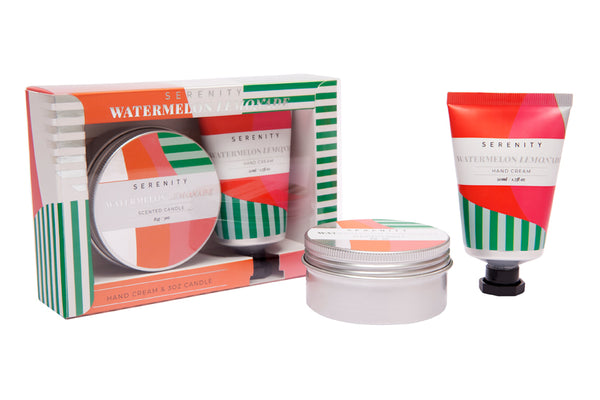 Travel Tin & Hand Cream Gift Set - Watermelon Lemonade