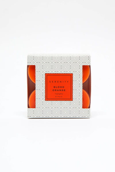 Tea Light 8 Pack Blood Orange