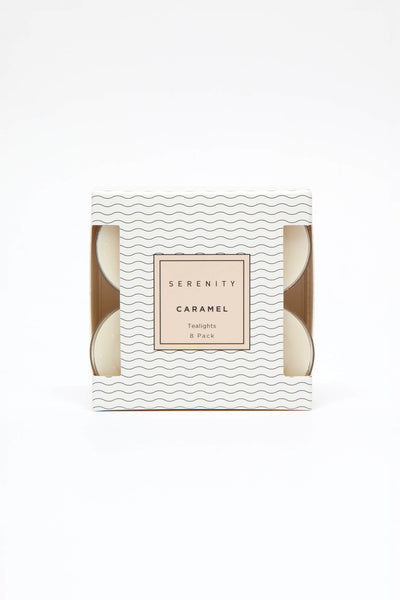 Tea Light 8 Pack Vanilla Caramel