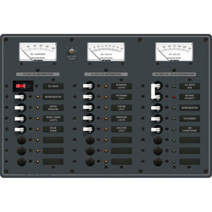 Blue Sea 8084 AC Main +6 Positions-DC Main +15 Positions Toggle Circuit Breaker Panel  (White Switches) [8084]