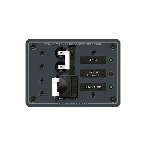 Blue Sea 8032 AC Toggle Source Selector 120V AC - 30AMP - White Switches [8032]