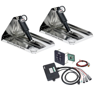 "Lenco 12"" x 12"" Heavy Duty Performance Trim Tab Kit w-Standard Tactile Switch Kit 12V [RT12X12HD]"