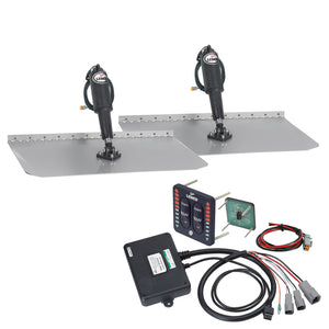 "Lenco 12"" x 24"" Standard Trim Tab Kit w-LED Indicator Switch Kit 12V [TT12X24I]"