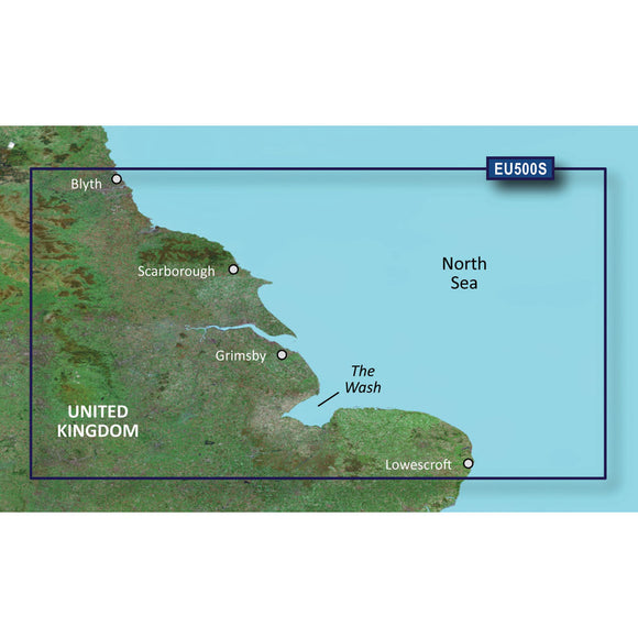Garmin BlueChart g3 Vision HD - VEU500S - Blyth to Lowestoft - microSD-SD [010-C0844-00]
