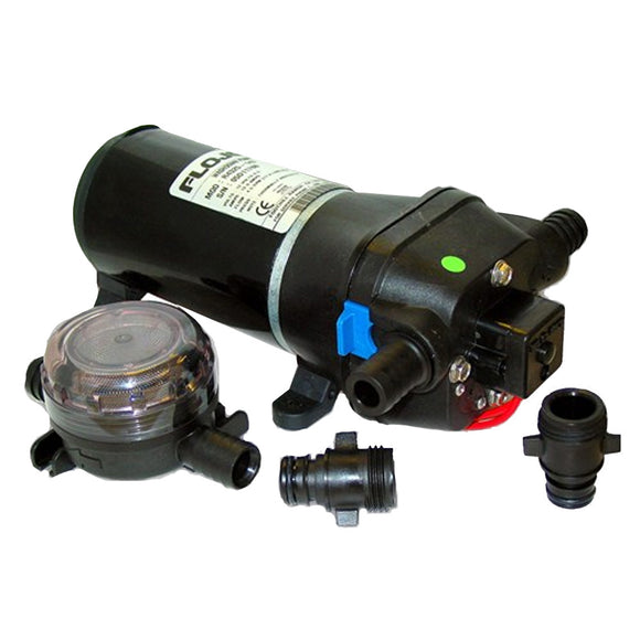 FloJet Heavy Duty Deck Wash Pump - 40psi-4.5GPM-12V w-Nozzle [04325143L]