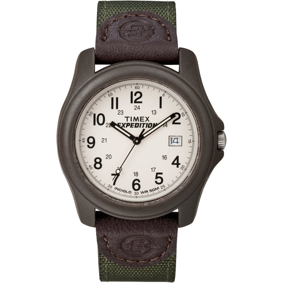 Timex Expedition Unisex Camper Brown-Olive Green [T49101]