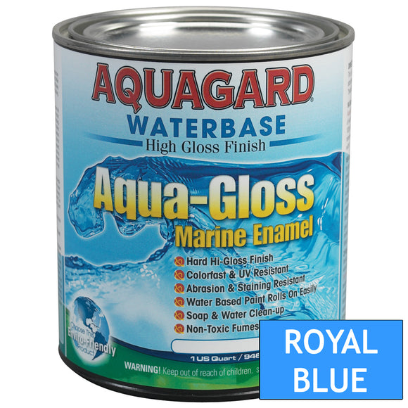 Aquagard Aqua Gloss Waterbased Enamel - 1Qt - Royal Blue [80006]