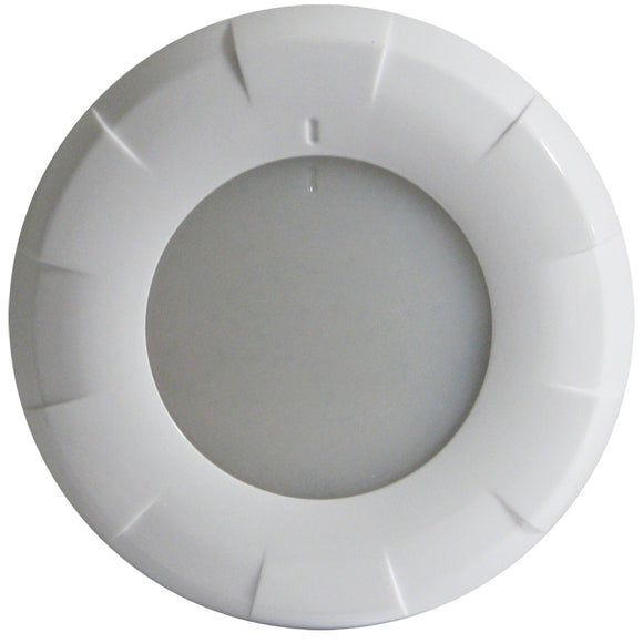 Lumitec Aurora LED Dome Light - White Finish - White Dimming [101077]