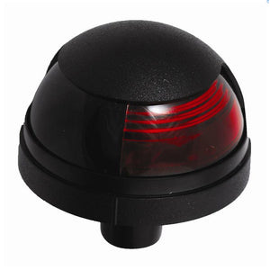 Attwood Pulsar 1-Mile Deck Mount, Red Sidelight - 12V - Black Housing [5040R7]