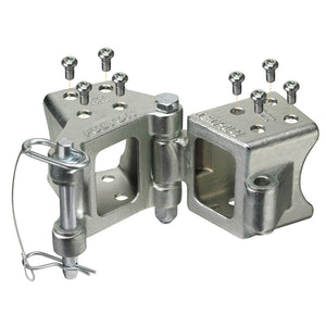 "Fulton Fold-Away Bolt-On Hinge Kit 3"" x 3"" Trailer Beam, Rating 5,000 lbs., 48"" Pivot, Z-Max 600 Zinc Finish [HDPB330101]"