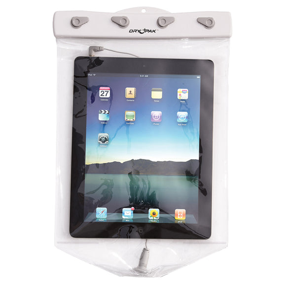 Dry Pak Clear Tablet Case f-iPad - White-Grey - 9