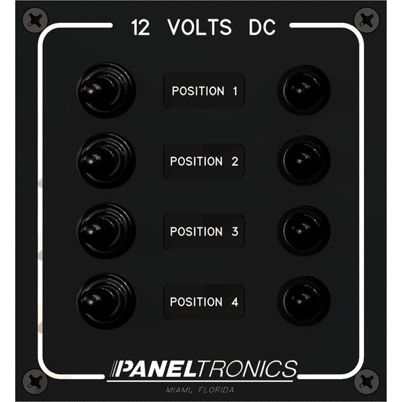 Paneltronics Waterproof Panel - DC 4-Position Toggle Switch & Circuit Breaker [9960017B]