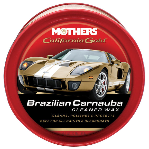 Mothers California Gold Brazilian Carnauba Cleaner Wax Paste - 12oz [05500]