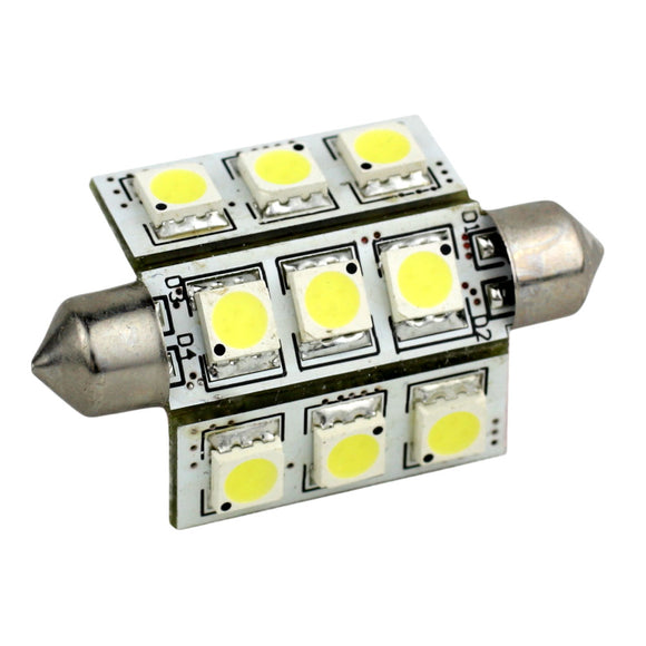 Lunasea 3-Sided 9 LED Festoon - 10-30VDC-2W-141 Lumens - Warm White [LLB-189W-21-00]
