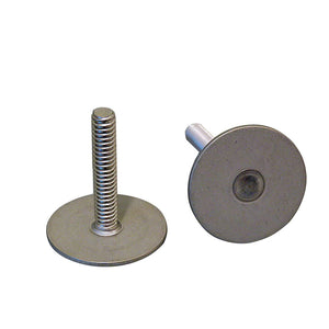 "Weld Mount 1"" Tall Stainless Stud w-1-4"" x 20 Threads - Qty. 10 [142016]"