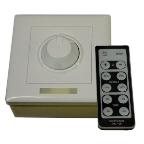 Lunasea Single Color Wall Mount Dimmer w-Controller [LLB-45AU-08-00]
