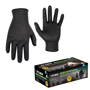 CLC Black Nitrile Disposable Gloves - Box Of 100 - Medium [2337M]