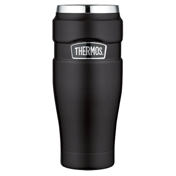 Thermos Stainless King Vacuum Insulated Travel Tumbler - 16 oz. - Stainless Steel-Matte Black [SK1005BKTRI4]