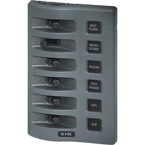 Blue Sea 4307 WeatherDeck 12V DC Waterproof Switch Panel - 6 Position [4307]