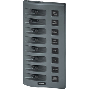 Blue Sea 4309 WeatherDeck 12V DC Waterproof Switch Panel - 8 Position [4309]