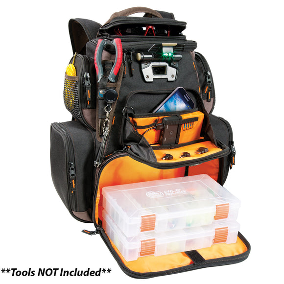 Wild River Tackle Tek Nomad XP - Lighted Backpack w- USB Charging System w-2 PT3600 Trays [WT3605]