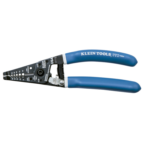 Klein Tools Klein-Kurve Wire Stripper-Cutter Solid (8-16 AWG) & Stranded (10-18 AWG) Wire [11054]