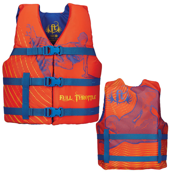Full Throttle Character Life Vest - Youth 50-90lbs - Orange [104200-200-002-15]