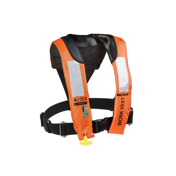 Kent A-33 In-Sight Automatic Inflatable Work Vest [153200-200-004-13]