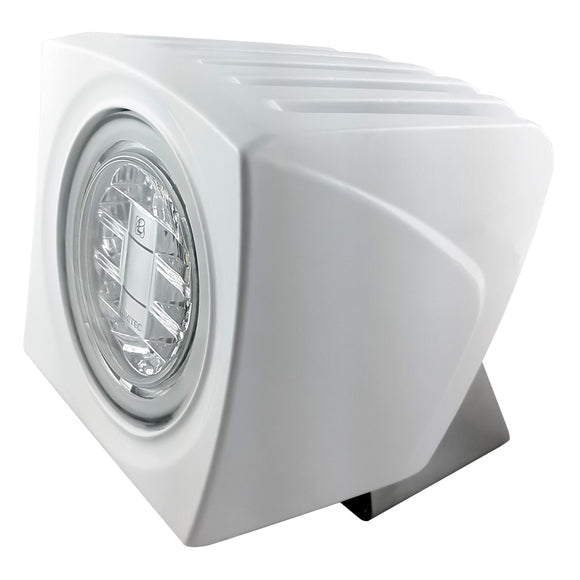Lumitec Cayman Superwhite Flood Light - White Finish - Super White Dimming [101259]