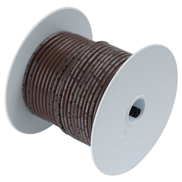 Ancor Brown 14AWG Tinned Copper Wire - 100' [104210]