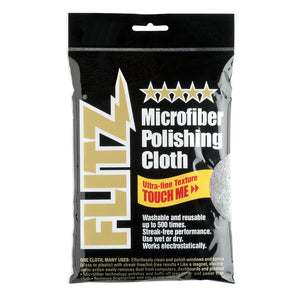 "Flitz Microfiber Polishing Cloth - 16"" x 16"" - Single Bag [MC200]"
