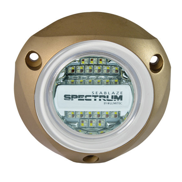 Lumitec SeaBlazeX Spectrum - Underwater Light - Bronze Housing - Full-Color Red, Blue, Green & White [101320]