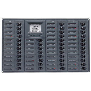 BEP Millennium Series DC Circuit Breaker Panel w-Digital Meters, 44SP DC12V Horizonal [M44H-DCSM]