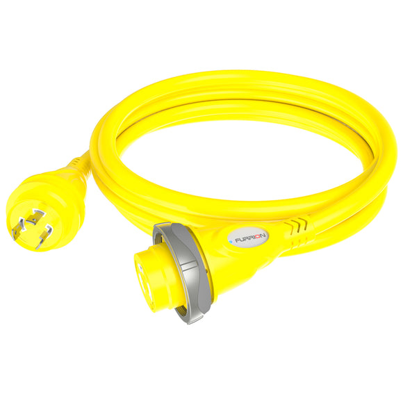 Furrion 30A 125V Marine Cordset 25ft Yellow W-LED [F30P25-SY]