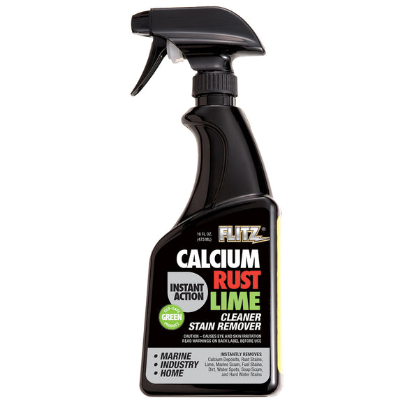 Flitz Instant Calcium, Rust & Lime Remover - 16oz Spray Bottle [CR 01606]