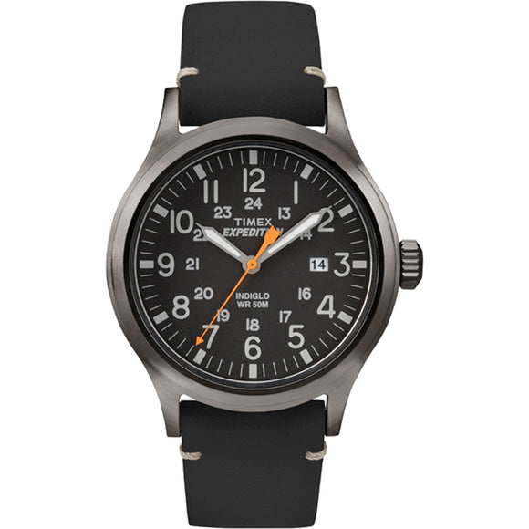 Timex Expedition Metal Scout - Black Leather-Black Dial [TW4B019009J]