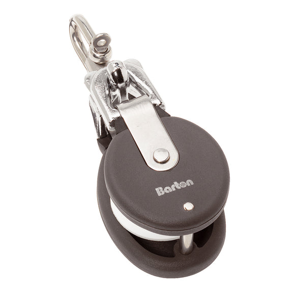 Barton Marine Snatch Block W-Stainless Steel D Shackle - 20mm Sheave Width [90 402]