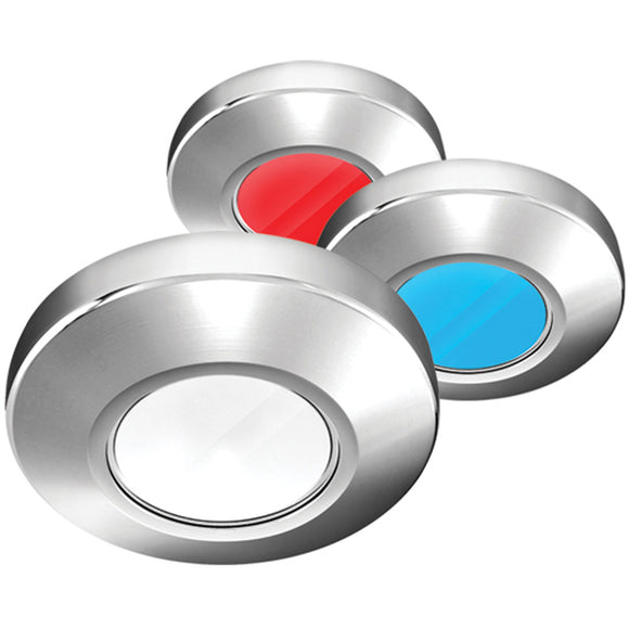 i2Systems Profile P1120 Tri-Light Surface Light - Red, White & Blue - Brushed Nickel Finish [P1120Z-41HAE]