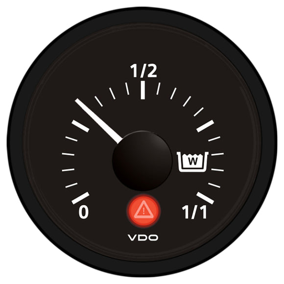 VDO Viewline Onyx Wastewater Gauge 12-24V - Use with VDO Capacitive Sender [A2C53210834-S]