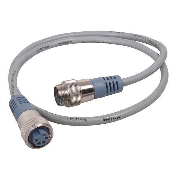 Maretron Mini Double Ended Cordset - Male to Female - 0.5M - Grey [NM-NG1-NF-00.5]