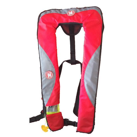 First Watch 24 Gram Inflatable PFD - Manual - Red-Grey [FW-240M-RG]