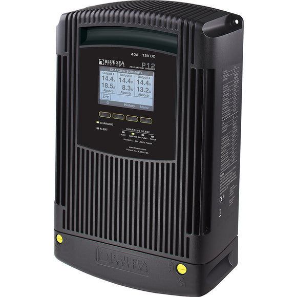 Blue Sea 7532 P12 Gen2 Battery Charger - 40A - 3-Bank [7532]
