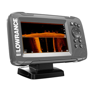 "Lowrance HOOK2-5 5"" Chartplotter-Fishfinder TripleShot Transom Mount Transducer w-Built-In US Inland Charts [000-14285-001]"
