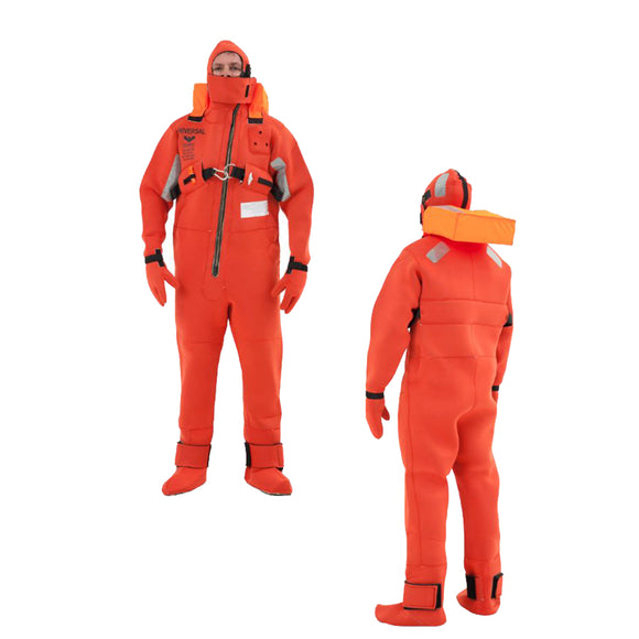 VIKING Immersion Rescue I Suit USCG-SOLAS w-Buoyancy Head Support - Neoprene Orange - Adult Small [PS20061050000]