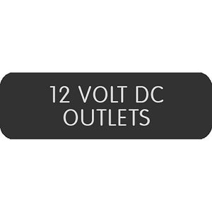 "Blue Sea Large Format Label - ""12V DC Outlets"" [8063-0004]"