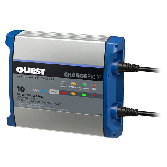 Guest On-Board Battery Charger 10A - 12V - 1 Bank - 120V Input [2710A]
