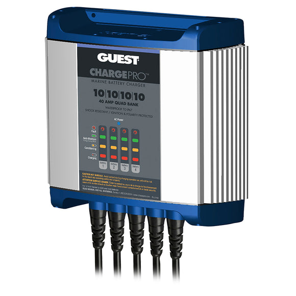 Guest On-Board Battery Charger 40A - 12V - 4 Bank - 120V Input [2740A]